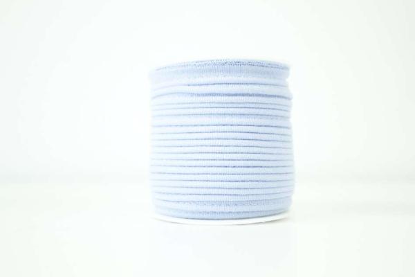 Jersey Paspelband hellblau elastisch