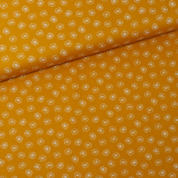 Baumwollwebware Pusteblume senf