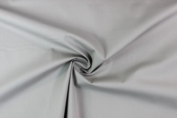 Baumwolle Poplin Stretch Uni knitterarm hellgrau Ökotex 100