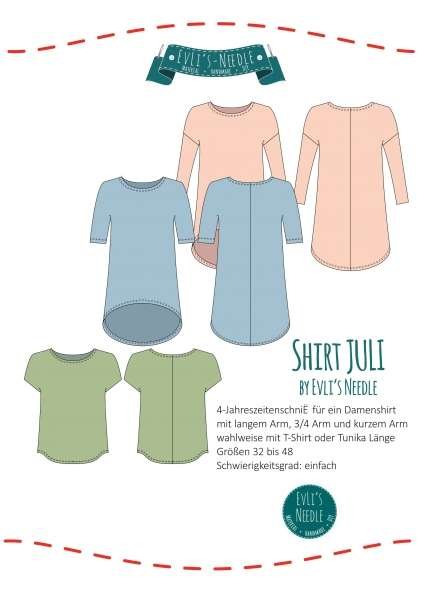 "Ebook Shirt ""JULI"" by EvLi's-Needle"