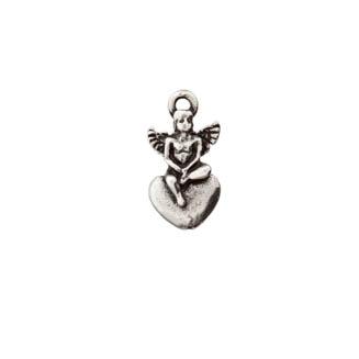 Metallzierteil Engel altsilber