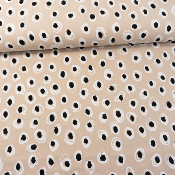 Baumwollwebware Baby Cotton Dots beige