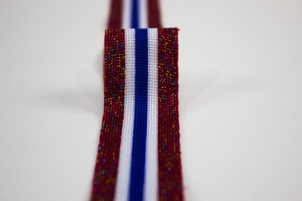 Galonband Glam rot-weiß-blau Ökotex 100