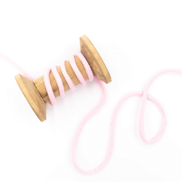 Kordel geflochten 4mm rosa