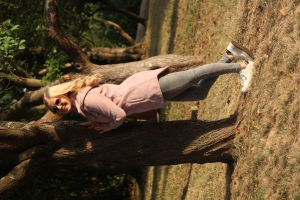 Leinen-Viskose-Mix Flora lila khaki rose Öko Tex 100