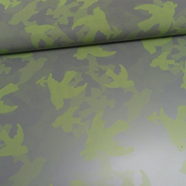 Reflex Reflektions-Stoff Camouflage lime