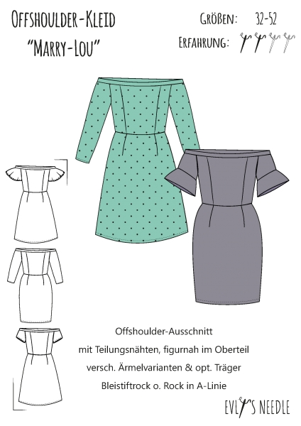 A0-PDF-Datei-Schnittbogen MARRY-LOU Tunikakleid