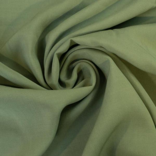 Viskosewebware Kunstseide Uni khaki
