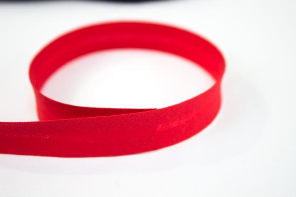 Schrägband vorgefalzt rot Ökotex 100