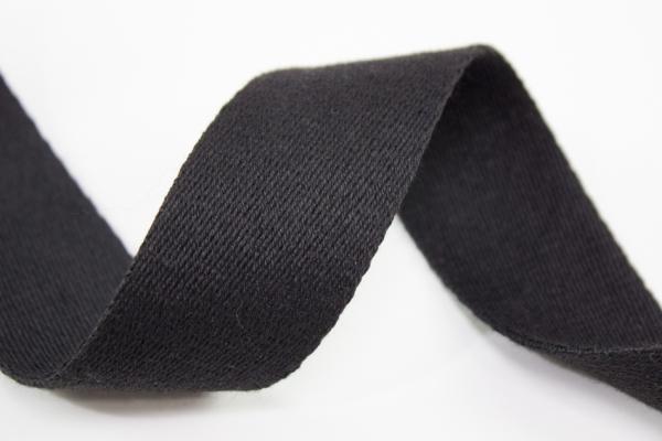 Gurtband 40mm schwarz 100% Baumwolle Ökotex 100