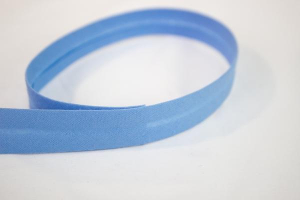 Schrägband vorgefalzt hellblau Ökotex 100