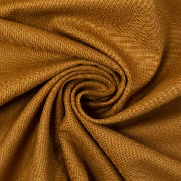 Canvas Premium Uni cognac 100% Baumwolle