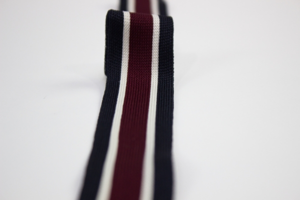 Galonband navy-beige-bordo Ökotex 100