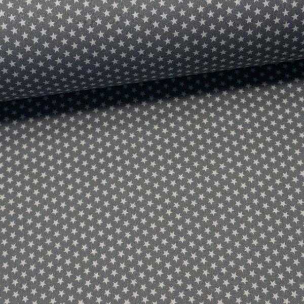 Edle Baumwollwebware Mini Sterne grau
