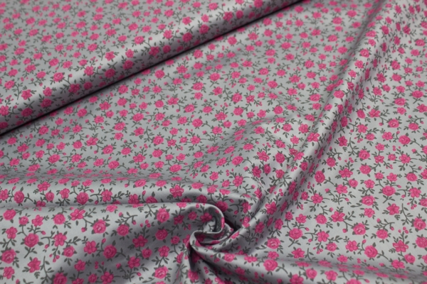 Baumwolle/Webware ROMANTICO Roses grey Öko Tex 100