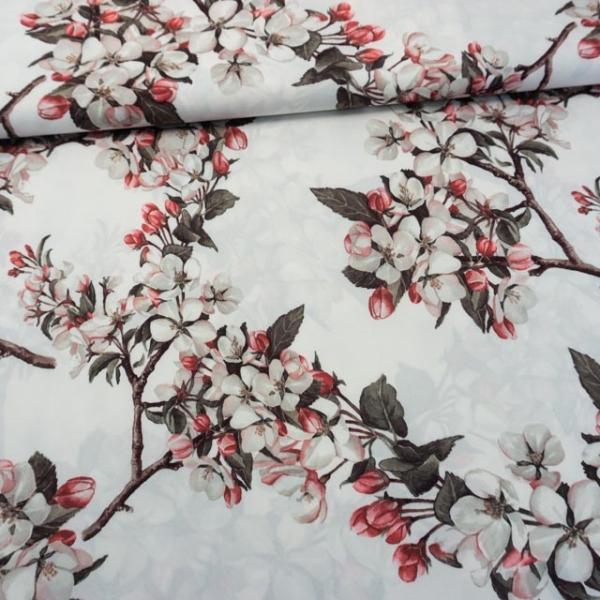 Satin Stretch Kirschblüte weiß