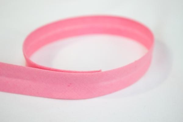 Schrägband vorgefalzt rosa Ökotex 100