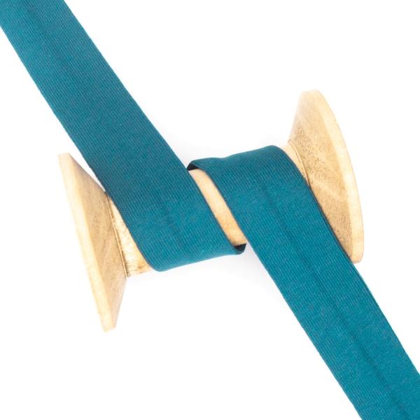 Jersey Schrägband Deluxe blaupetrol