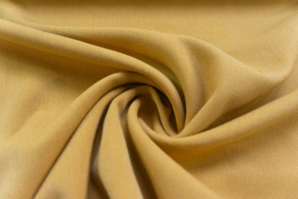 Twill Hosenstoff bi-elastisch Wool Touch Uni senf Öko Tex 100