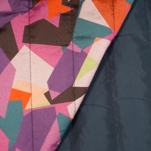 Jackenstoff Steppstoff Abstract multicolour