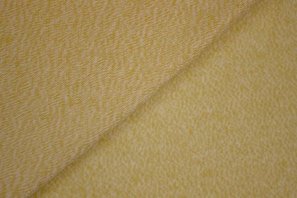 Strick-Jersey Cashmere-Style Senf meliert angeraut kuschelig weich Ökotex