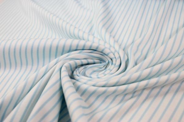 Baumwolljersey 100% Candycotton Streifen blau-weiß Ökotex 100