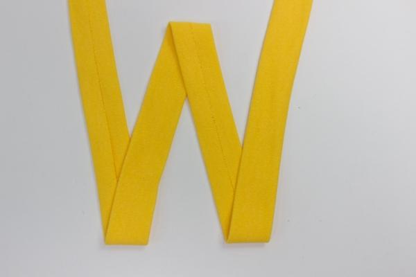 Jersey Schrägband vorgefalzt gelb Ökotex 100