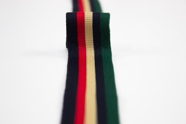 Galonband grün-navy-beige-rot-schwarz Ökotex 100