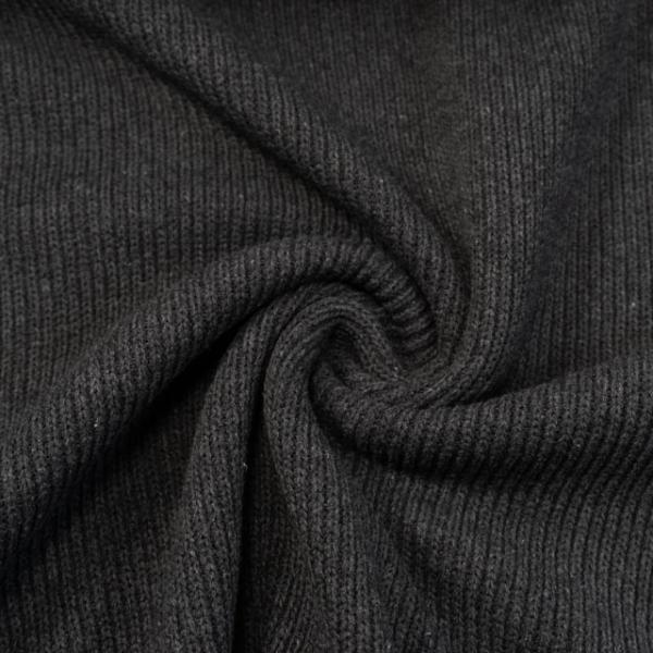 Frühlings-Kuschelstrick schwarz melange
