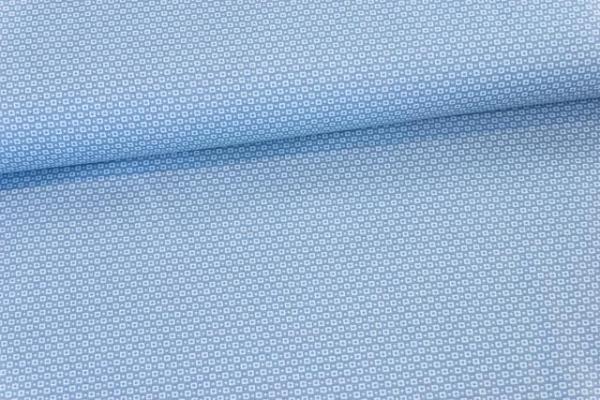 Baumwollwebware Kleine Quadrate jeansblau Ökotex 100