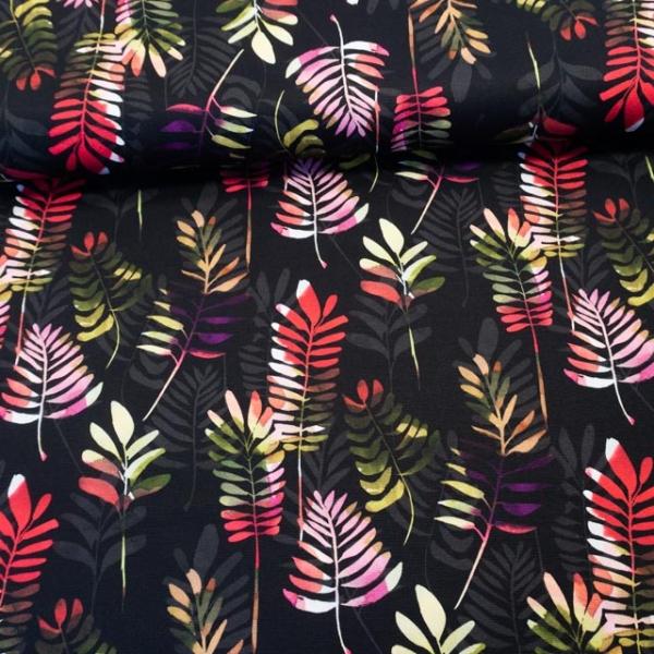 Canvas DIGITAL Big Leaves schwarz