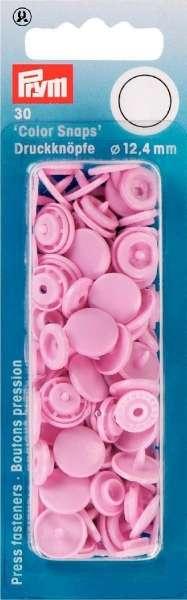 Prym Color Snaps rosa rund 12,4mm