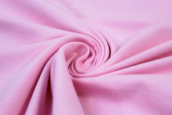 Organic Baumwolljersey Uni rosa Ökotex 100