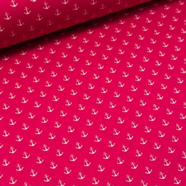 Baumwollwebware Mini Anker pink-beere