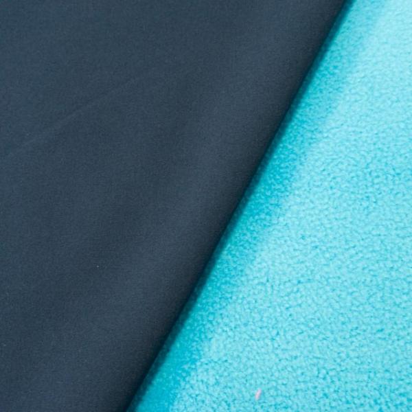 Softshell Uni jeansblau-dunkel türkis