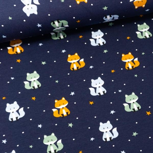Baumwolljersey Little Fox dark navy