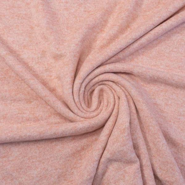 Soft Strickjersey Melange rosa