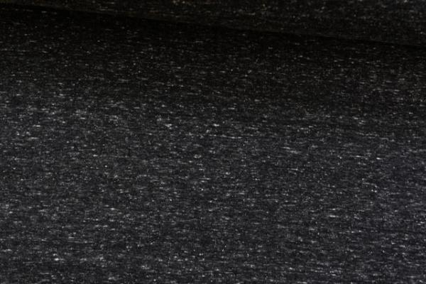 Tender Supersoft Sweat meliert - schwarz - angeraut Ökotex 100