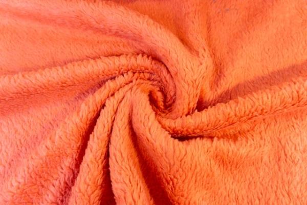 Teddyplüsch orange 100% Baumwolle Ökotex 100