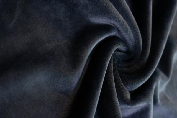 Velvet Samt-Sweat elastisch navy Ökotex 100