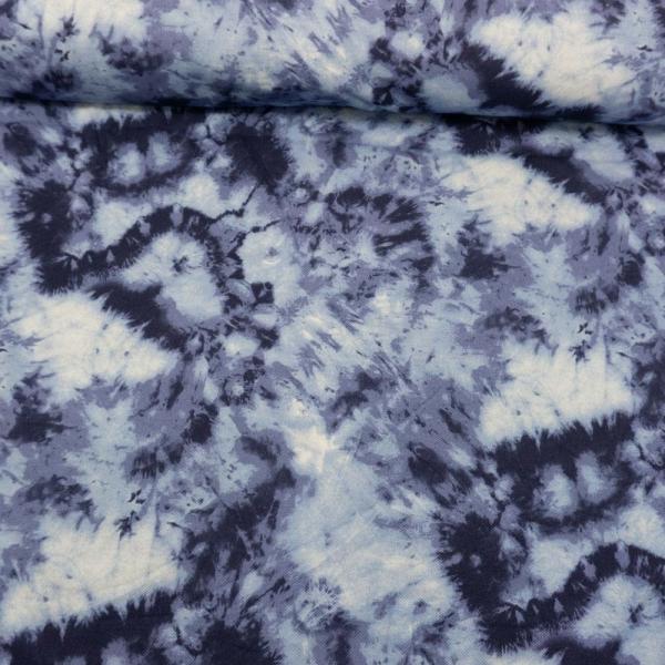 Baumwolljersey Polo Pique Tie Dye navy