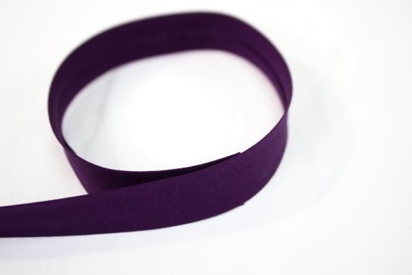 Elastisches Schrägband vorgefalzt lila Ökotex 100