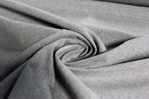 Hosenstoff elastisch Emporio Uni grau meliert Öko Tex 100