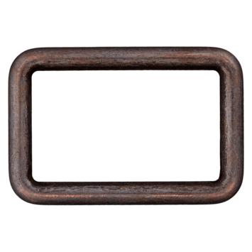Rechteck-Ring schwarz 30mm