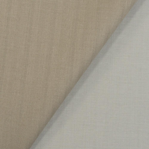 Hosenstoff Webware Stretch Doubleface beige-hellgrau