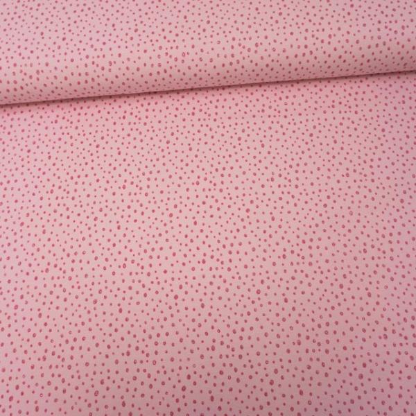 Baumwolljersey Glitterpoints rosa