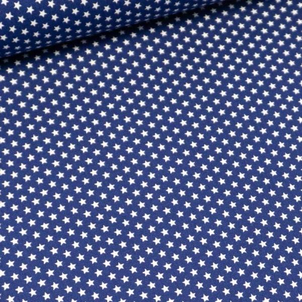 Edle Baumwollwebware Mini Sterne royalblau