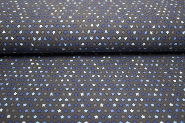 Sternchen grau-blau-navy Baumwolljersey Öko Tex 100