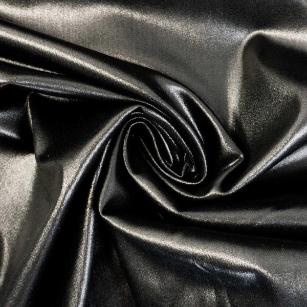 Beschichteter Twill Kunstlederoptik schwarz