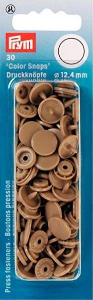 Prym Color Snaps taupe hell rund 12,4mm